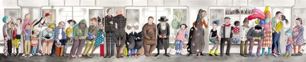 NYC Subway art by Sophie Blackall