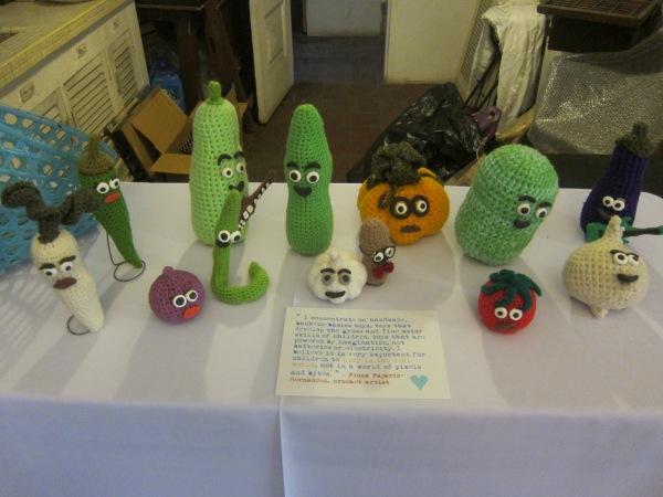 Veggie Family by crochet artist, Fiona Fajardo-Hernandez