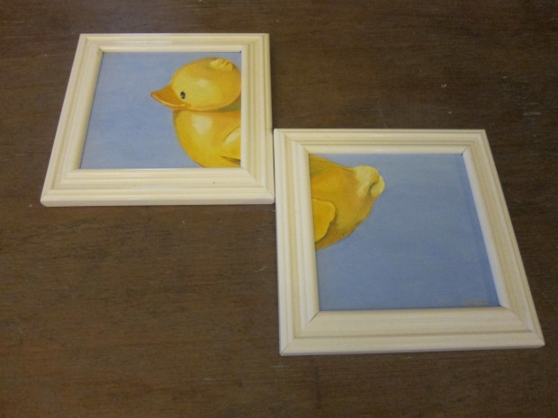 I especially loved this rubber ducky split painting!