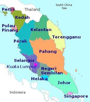 West Malaysia States