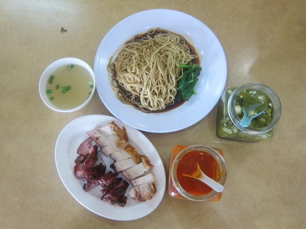 Wan Tan Mee with Chasyu (Asado) and Roast Pork
