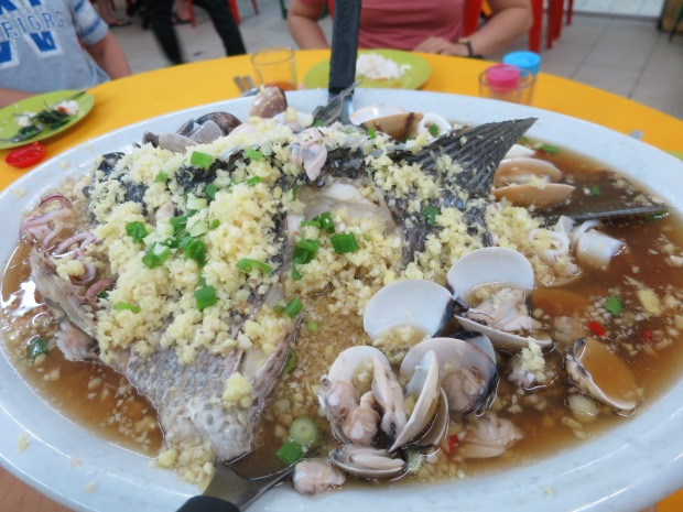 Steamed fish plate